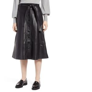 Halogen Size 12 Pleater A-Line Button Down Skirt